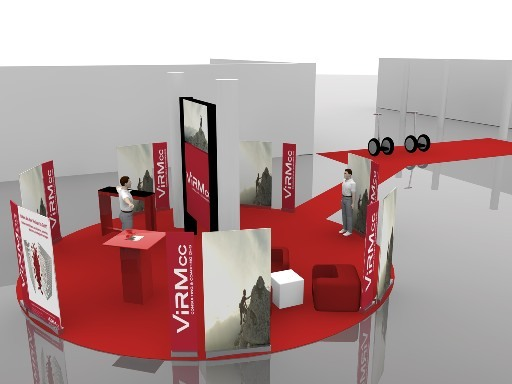 Messestand incl. 4 Panel Display und Segway Parcour